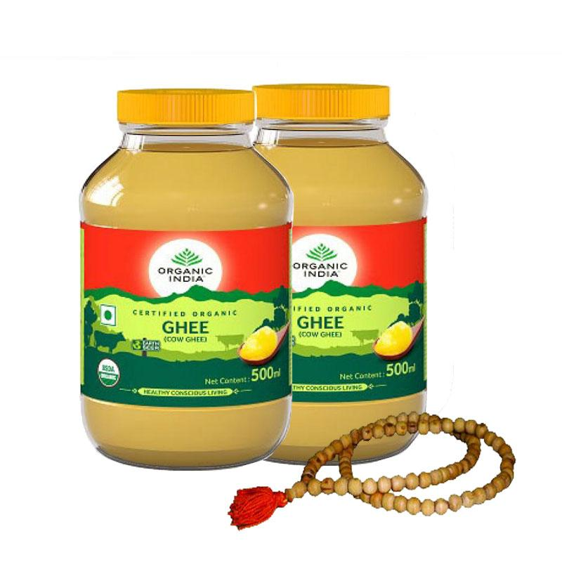 2 Organic Ghee 500ml with Tulsi Mala