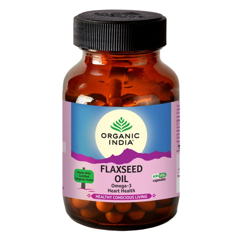Flax Seed Oil 60 Capsules Bottle