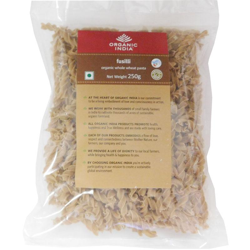 Fusilli Organic Whole Wheat Pasta 250g