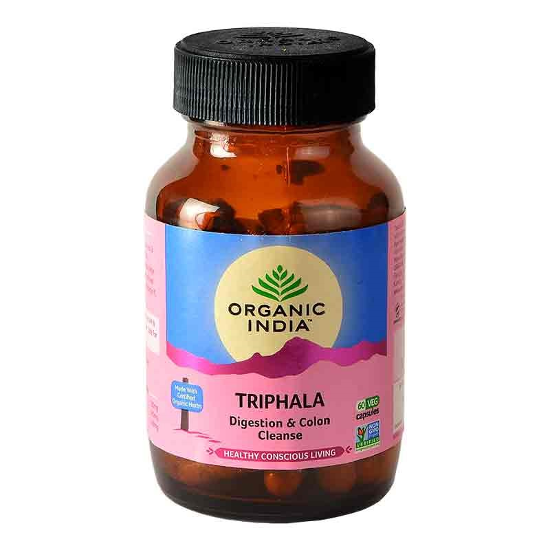 Organic India Triphala 60 Capsules For Digestion & Colon Cleanse