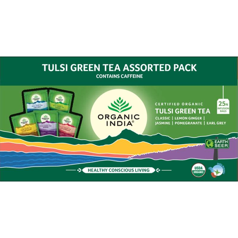 Tulsi Green Tea Assorted 25 Tea Bags