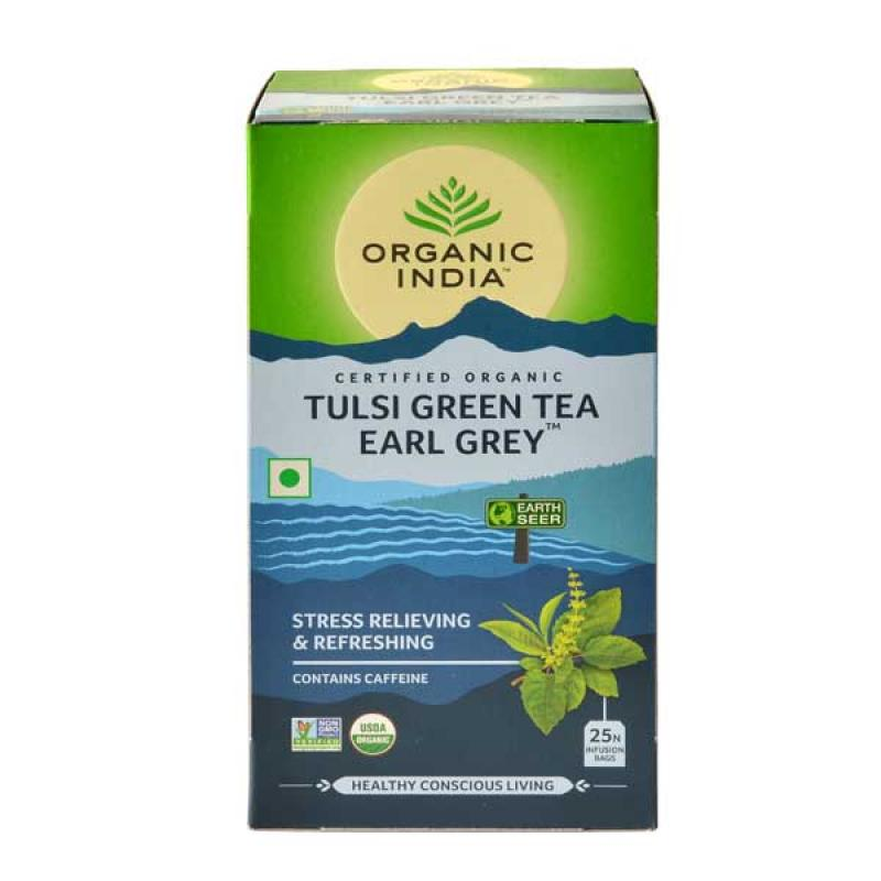Tulsi Green Tea Earl Grey 25 Tea Bags
