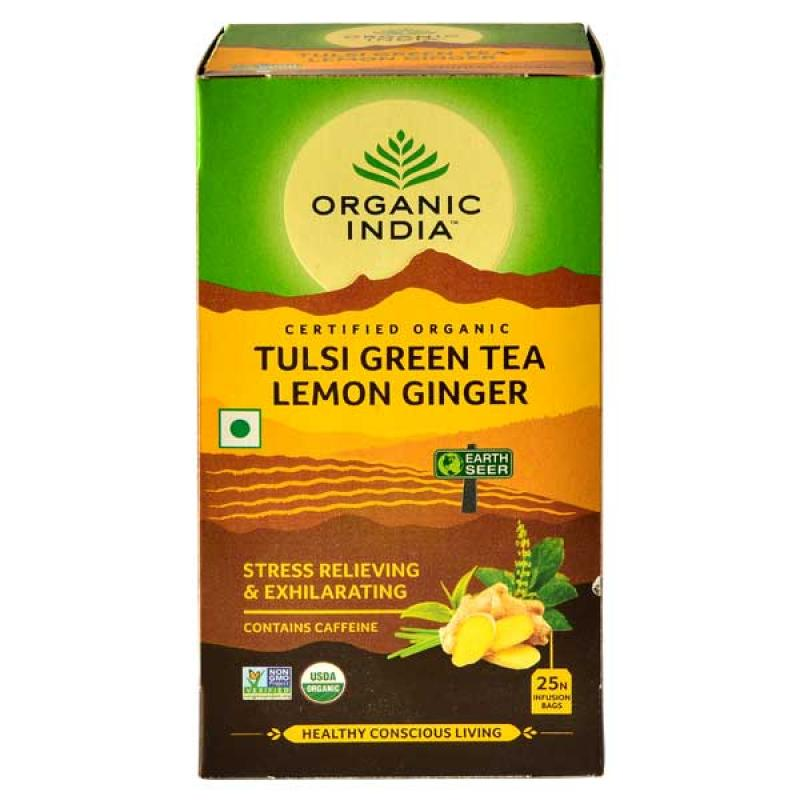 Tulsi Green Tea Lemon Ginger 25 Tea Bags