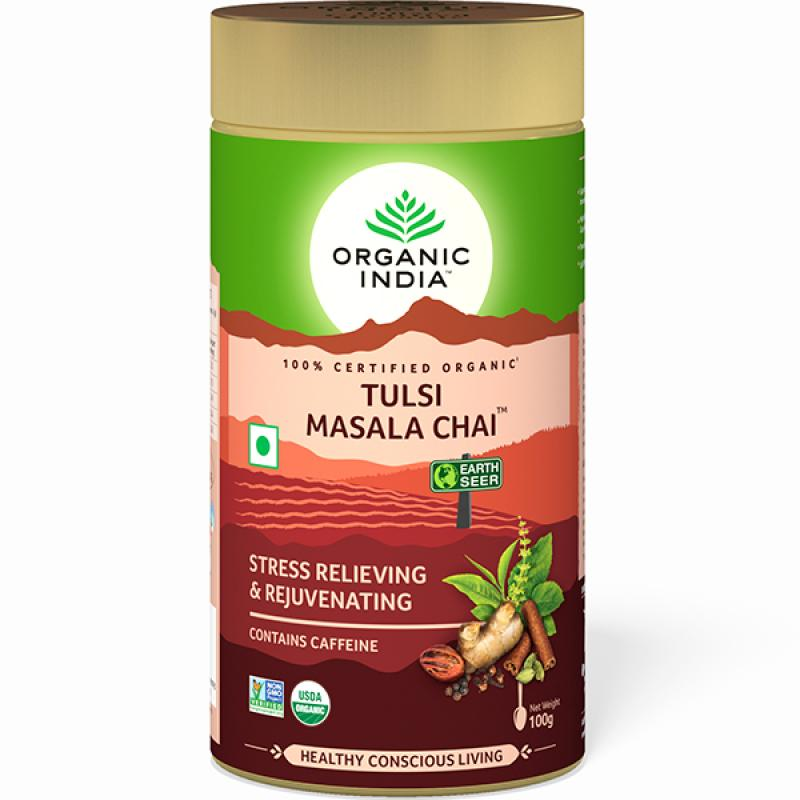 Tulsi Masala Chai 100 Gram Tin